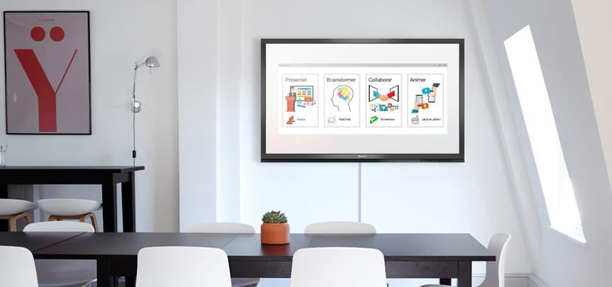 Fonctionnement de l'écran interactif tactile
