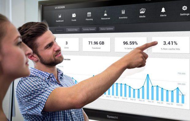 utilisation d'un écran tactile en entreprise